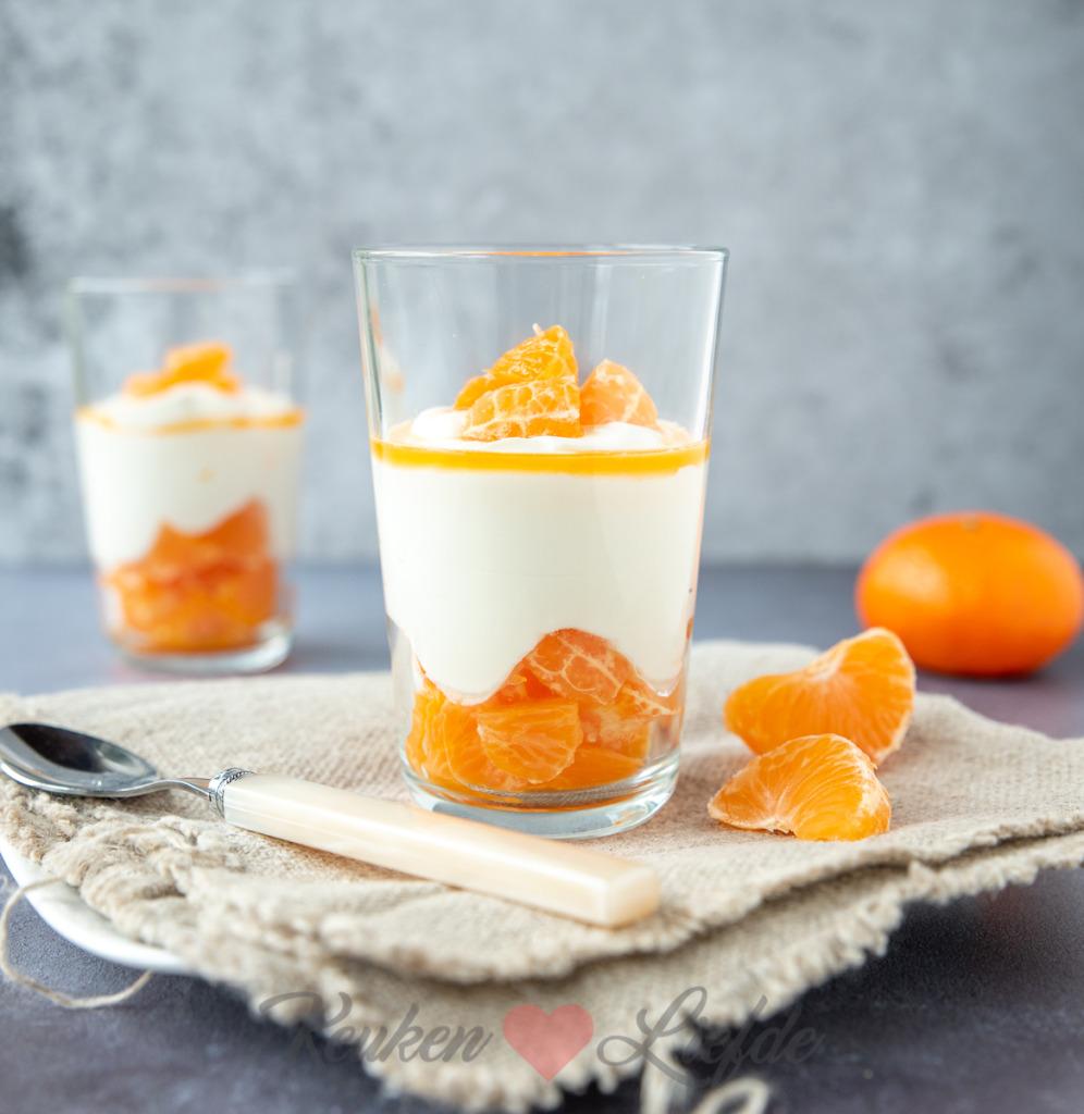 Roomtoetje met mandarijn