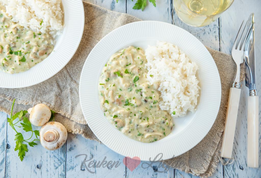 Kipragout met rijst