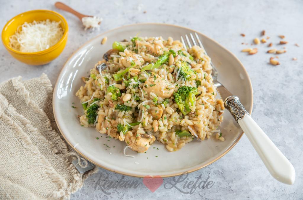 Italiaanse risotto met kip en broccoli