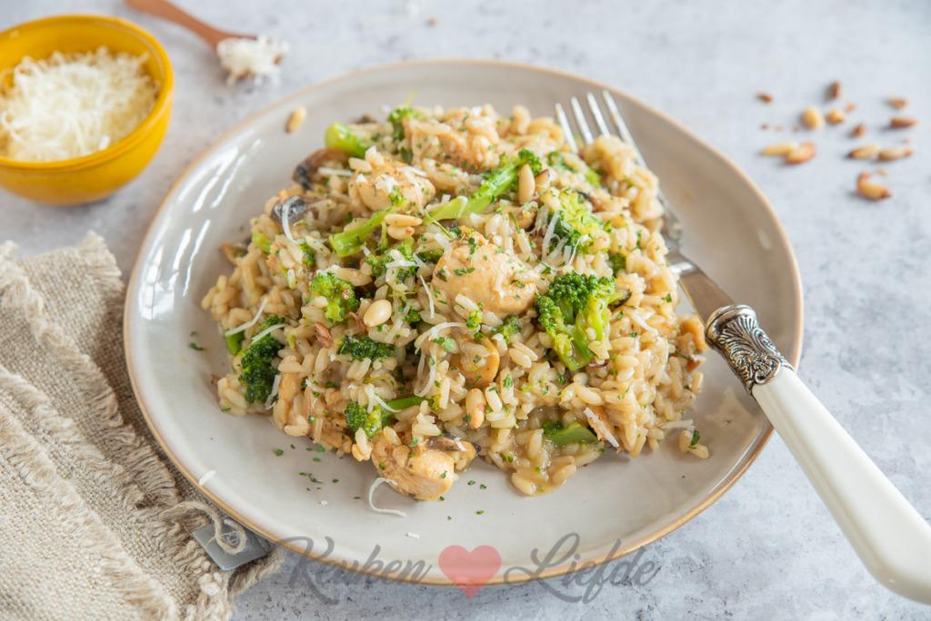 Italiaanse risotto met broccoli en kip