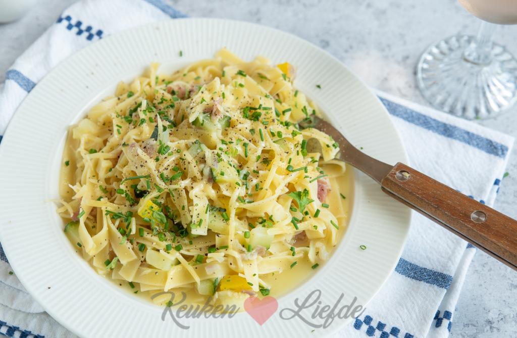 One pot pasta (makkelijk op de camping)