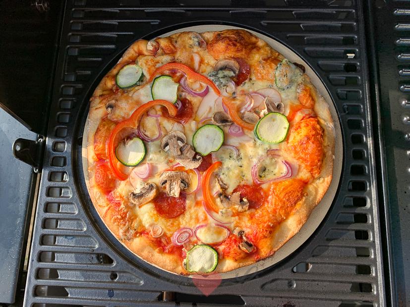 Pizza van de barbecue