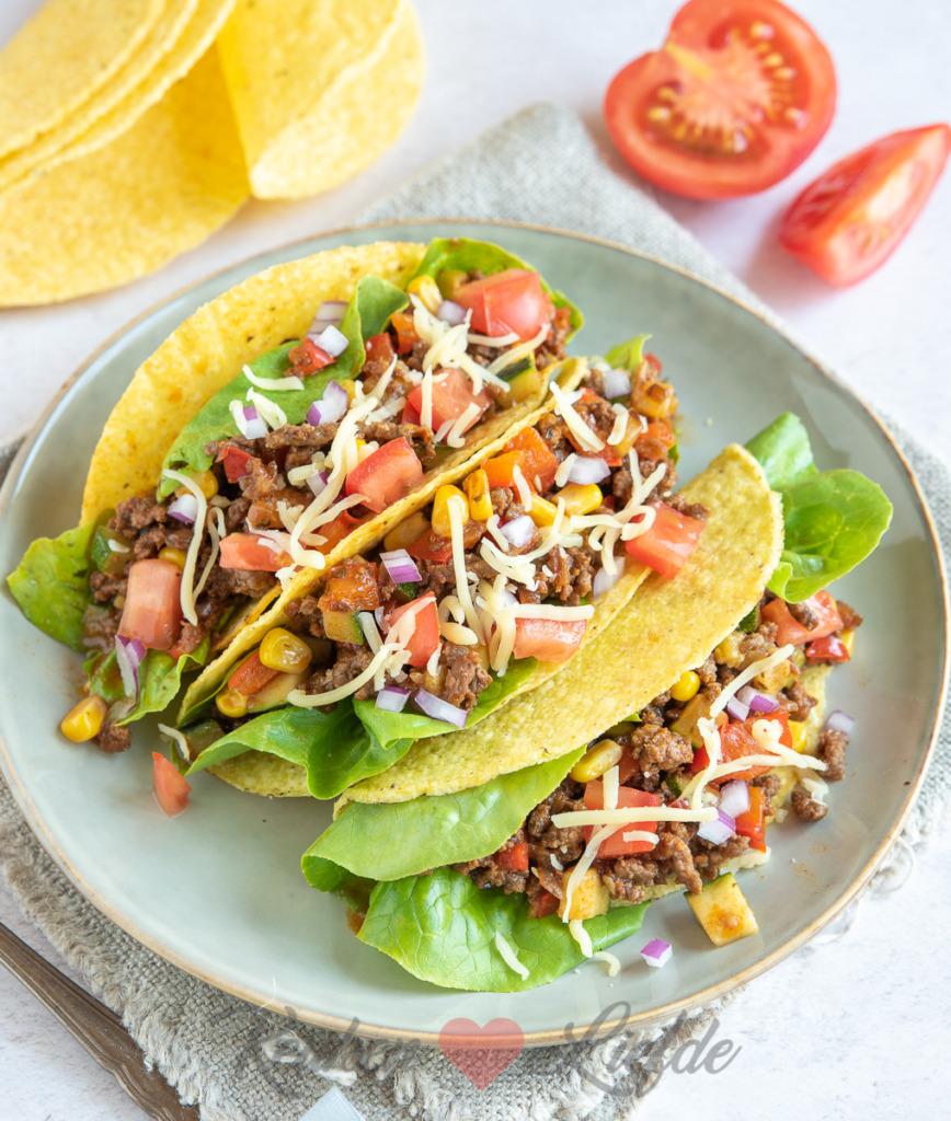 Mexicaanse taco's met gehakt en groenten