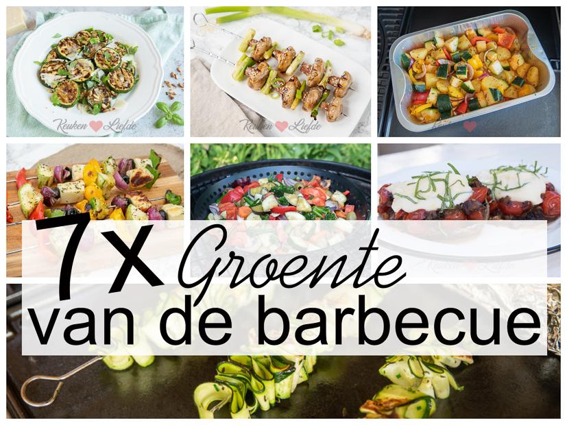 7x groente van de barbecue